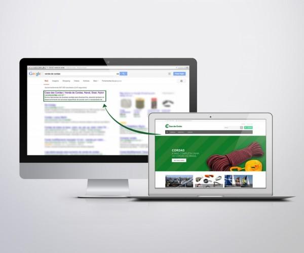 E-commerce na primeira página do Google