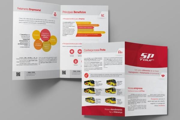 Folder Institucional para prospecção de novos clientes