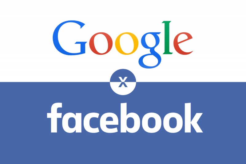 Imagem referente a Google vs Facebook