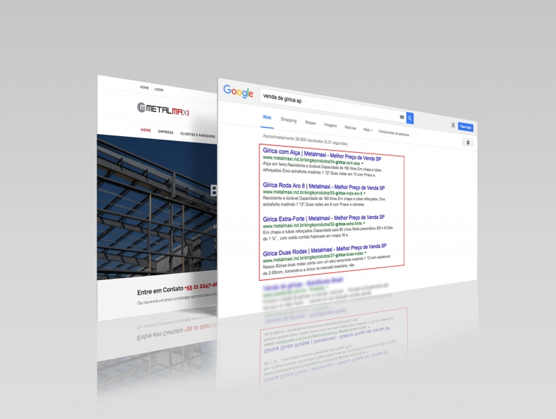 Site em primeiro lugar no Google